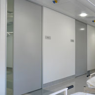 AutoCav automated cavity sliders with AluTec doors in a hospital