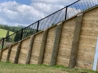 2.4m wide panels made it the perfect choice for retaining walls.  Specific fixing details for retaining walls in the PS1 make this a popular choice for installers.