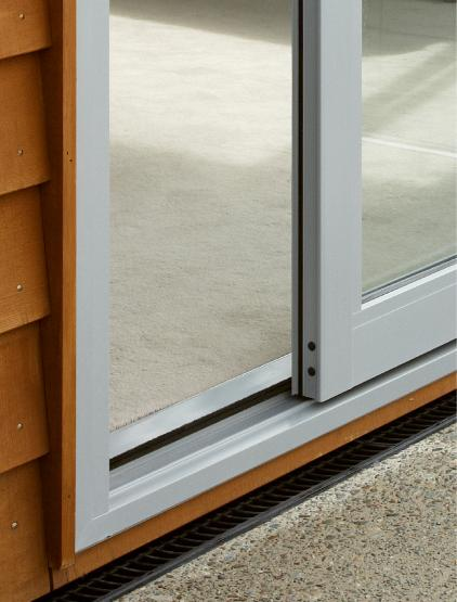 Close up of chevron sill. Smoothtech™ sill system.