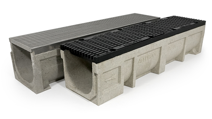 200 x 225mm Polymer Concrete Channel