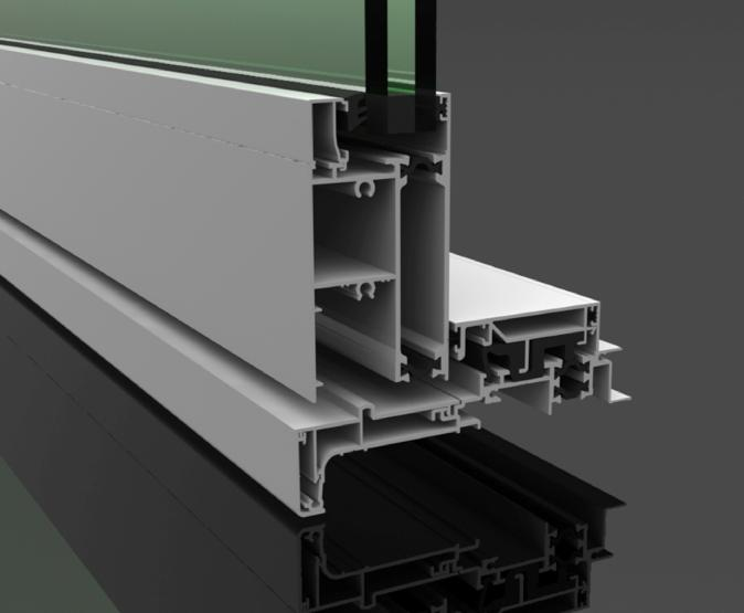Cutaway section of the Pacific Thermal Euroslider® sill