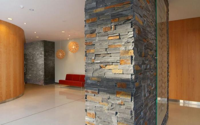 SUMNER Basalt schist was used in the entrance of the Scene 2 Apartments in downtown Auckland.