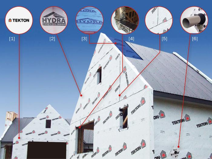 New HYDRA Roof Underlay is the final component of the 'Marshall Weatherization System'(complete weathertight protection of the building envelope).
