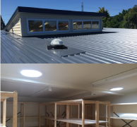 Below 10 degrees roof pitch, a tray flashing must be installed from the ridgeline to 500mm below the installation.  The HomeTech certified installer can facilitate this as part of the project.