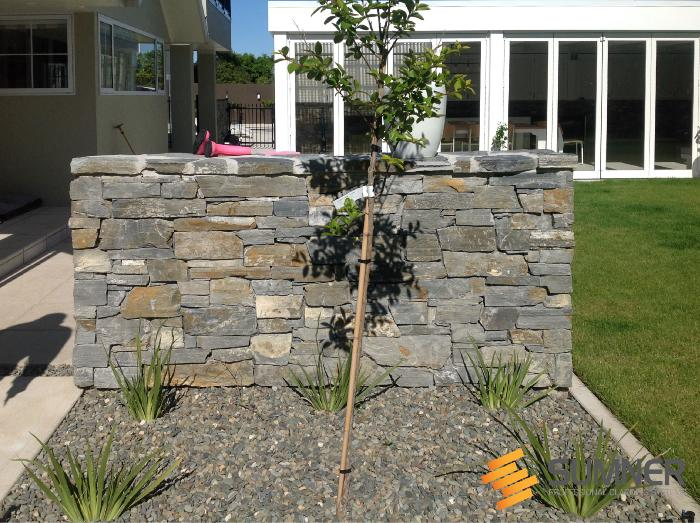 Freestanding wall in Nelson, installed by Tim Edwards