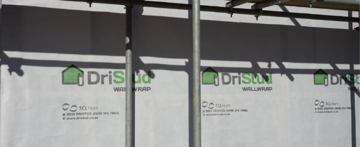 DriStud Wall Wrap being installed