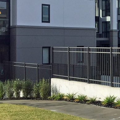 Contemporary balustrade can be combined for balustrading and fencing