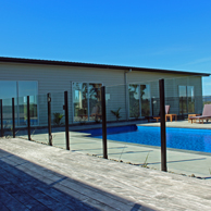 Edge balustrade system can be used for Pool Fencing with toughend safety glass