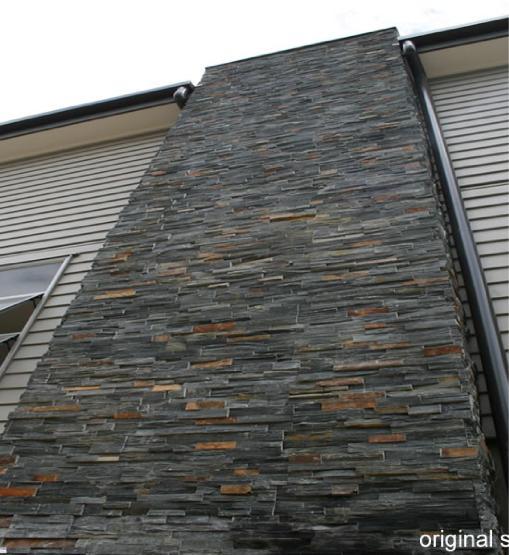 SUMNER Basalt Schist exterior chimney in Auckland