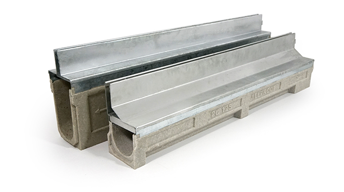 Polymer Concrete Channel with slot drain grates.