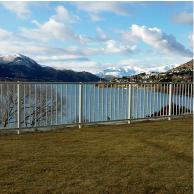 Homestead balustrade is ideal as a barrier and fenicng for this lakeside site