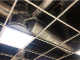 600 x 600mm ceiling grid installation for commercial premises.  Comes with seismic restraint strap.  Note 90 degree angles - allows horizontal installation.