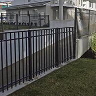Contemporary balustrade is ideal for balustrading on the retaining wall and fencing the parking area