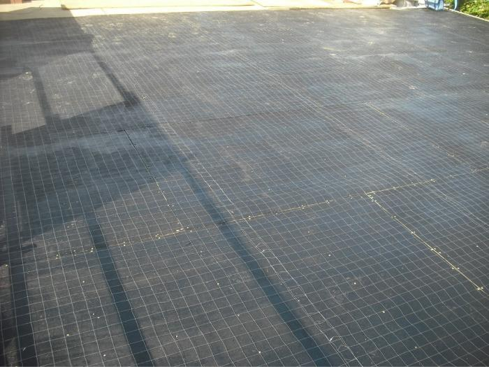 Ready for membrane to be laid over the top of the mesh, so Electric Field Vector Mapping EFVM® membrane integrity testing can be carried out.