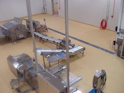 Sureshield applied to bakery process hygiene areas.