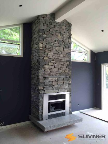 SUMNER Otago Grey inside fireplace