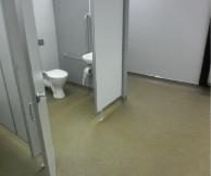 Sureshield applied to changing room areas.